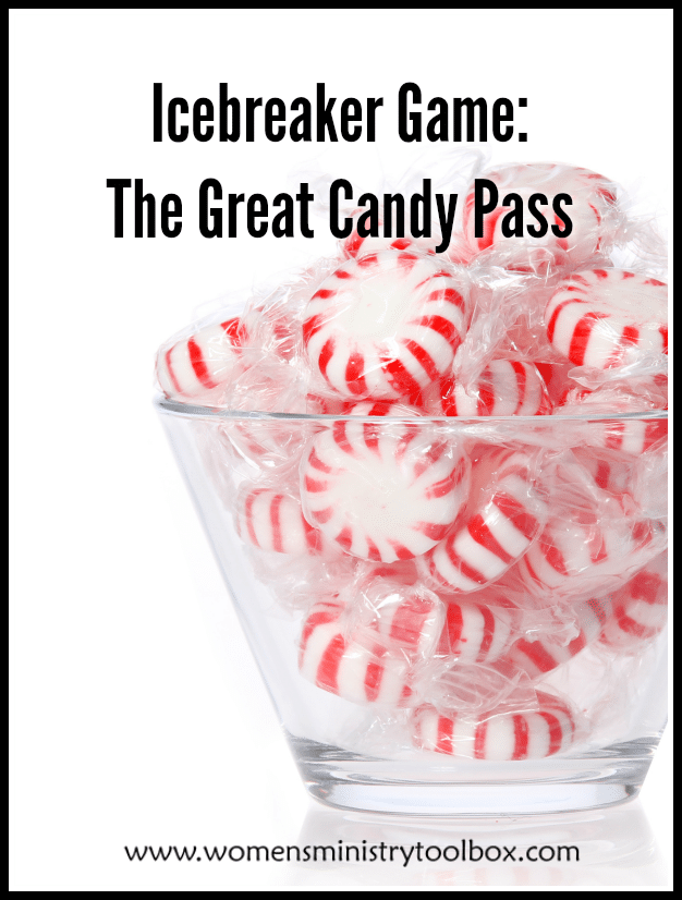 The Great Candy Pass Icebreaker is one of the most popular games on my site! Your women's ministry team, small group, and Bible study group will love it!