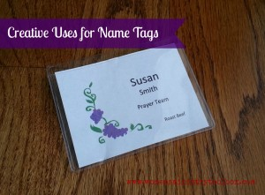 Creative Uses for Name Tags