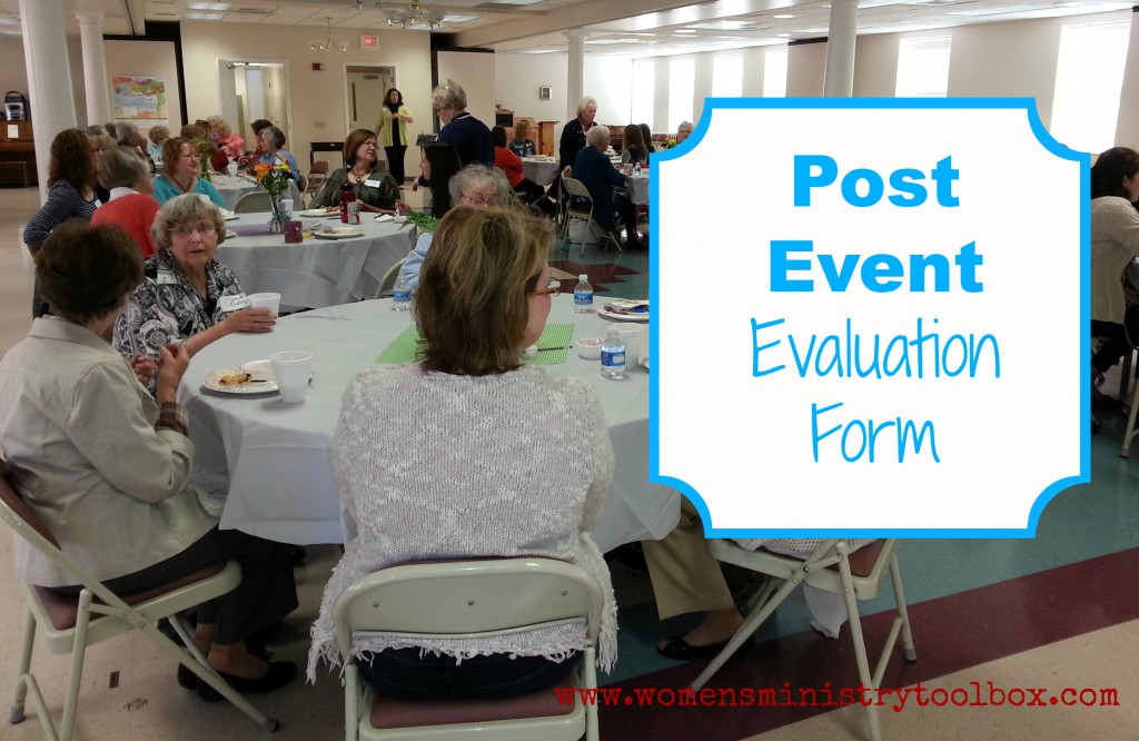 post event evaluation form