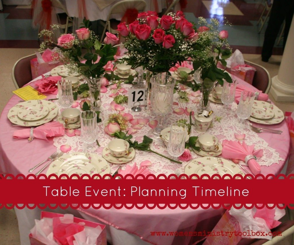 Table Event: Planning Timeline
