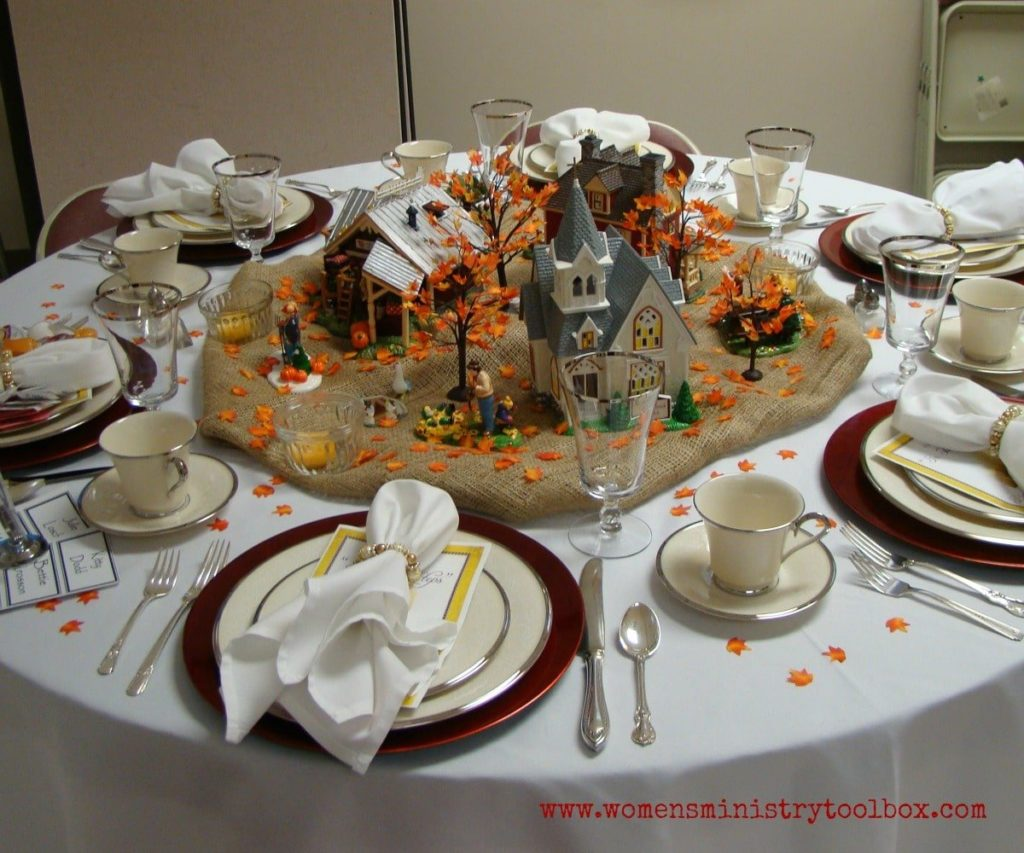fall scene table