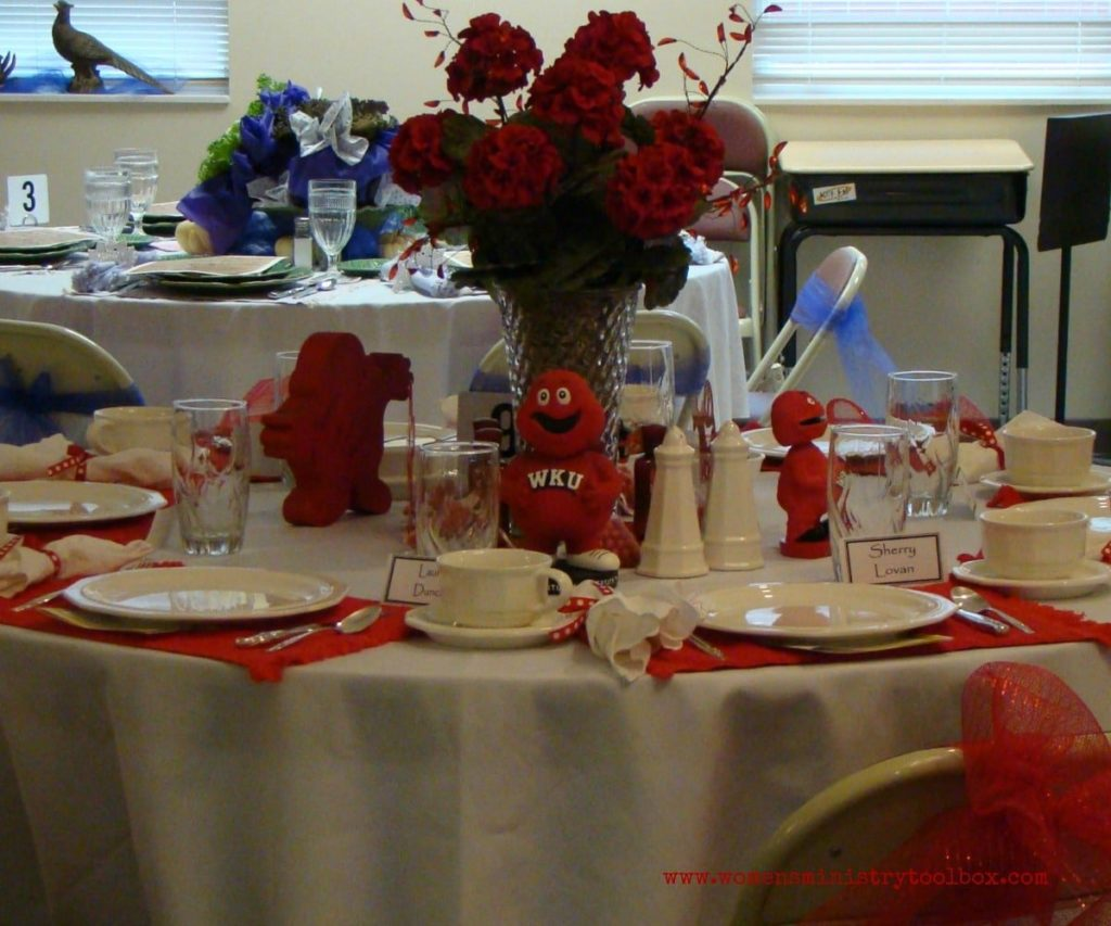 mascot themed table