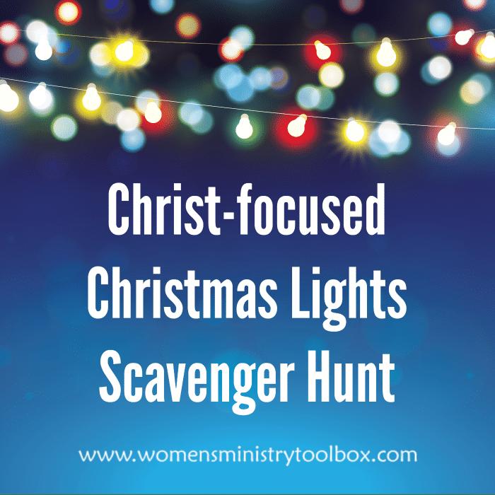 Christ-focused Christmas Lights Scavenger Hunt