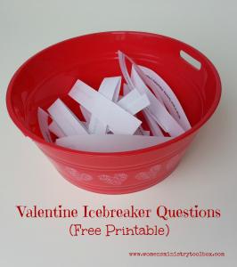 Valentine Icebreaker Questions (Free Printable)