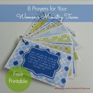 8 Prayers for Your Team (Free Printable)