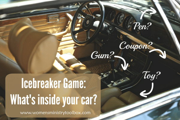 Icebeaker Game What's inside your car