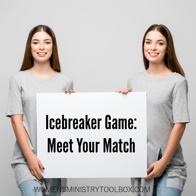 The Meet Your Match Icebreaker game uncovers common experiences and interests.