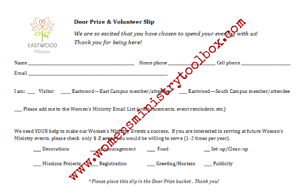 prize drawing template