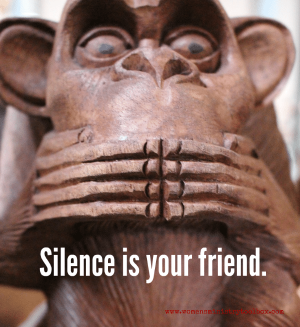 Silence is your friend. #groupleaders