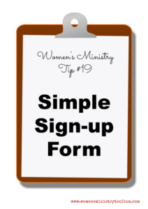 Tip 19 – Simple Sign-up Form (Free Printable)