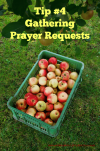 Tip 4 – Gathering Prayer Requests