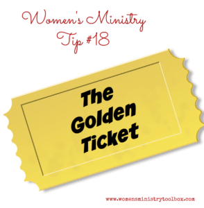 Tip 18 – The (Door Prize) Golden Ticket