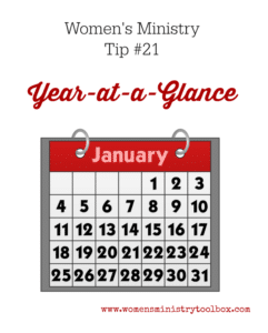 Tip 21- Year-at-a-Glance Form