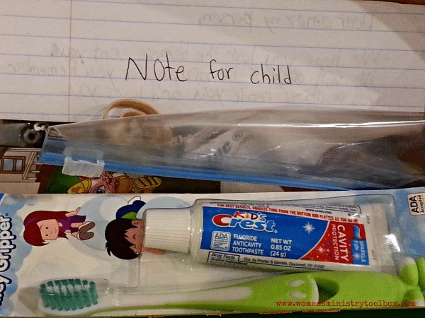 Note for child