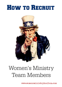 How to Recruit Women's Ministry Team Members