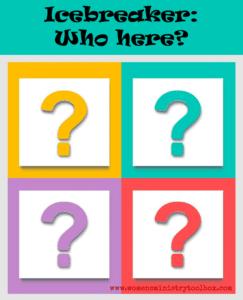 Icebreaker: Who here?