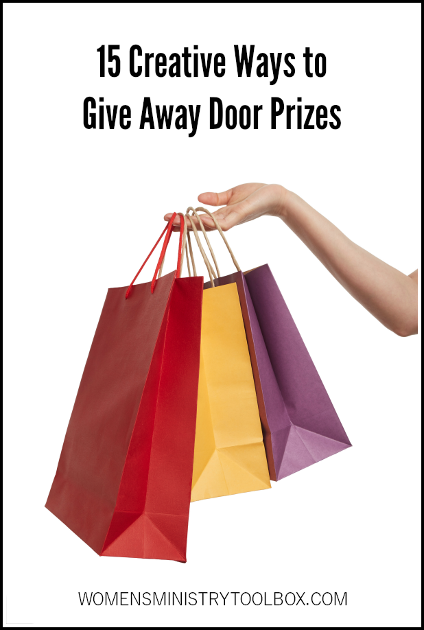 Get creative when you give away door prizes. These 15 creative ideas will add some excitement and fun!