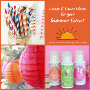 Decor and Favor Ideas for Your Summer Event