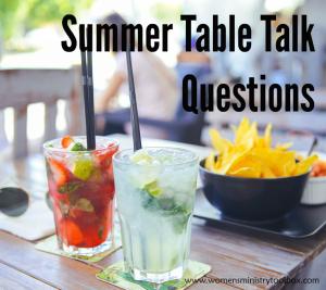 Summer Table Talk Cards