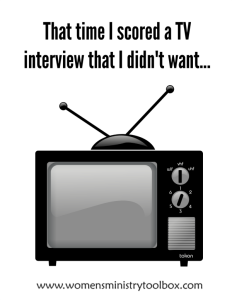 That time I scored a TV interview that I didn't want…
