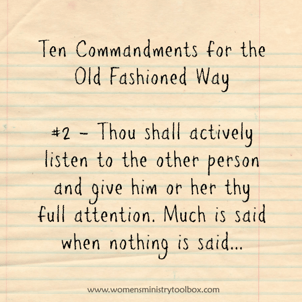 The Ten Commandments for the Old Fashioned Way