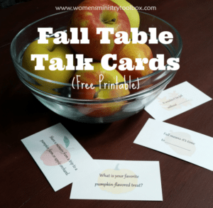 Fall Table Talk Cards (Free Printable)