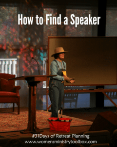 Day 7 – How to Find a  Speaker