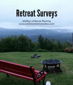Day 23 – Retreat Surveys