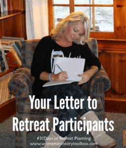 Day 18 – Your Letter to Retreat Participants