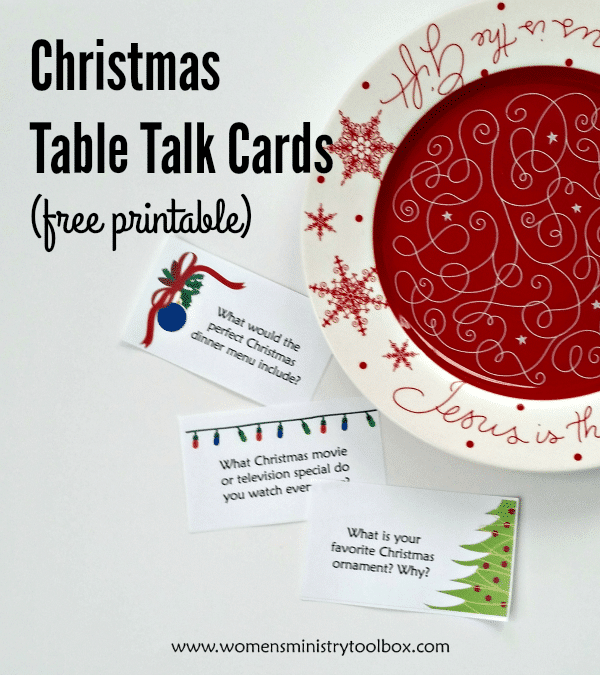 Christmas Table Talk Cards Free Printable Women S Ministry Toolbox