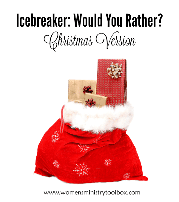 Icebreaker Would You Rather - Christmas Version