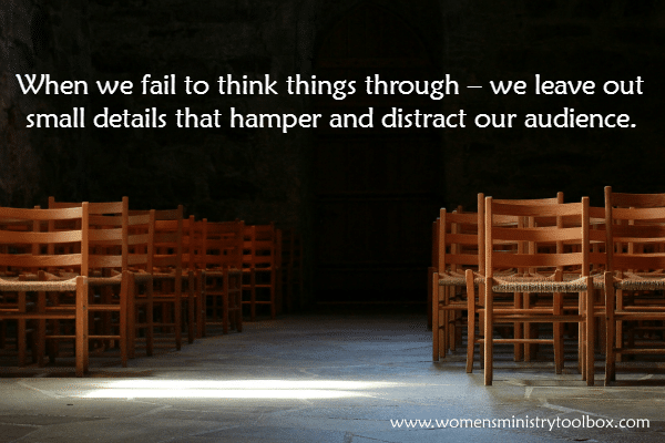 When we fail to think things through
