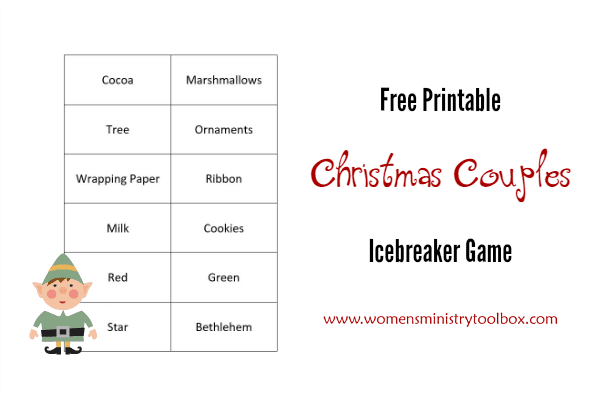 Free Printable Christmas Couples Icebreaker Game