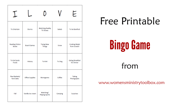 Free Printable Bingo Game