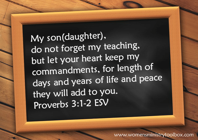 Proverbs 3_1 and 2