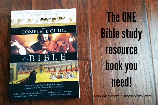 The ONE Bible study resource book you need!