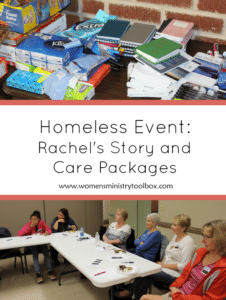 Homeless Event: Rachel's Story & Care Packages