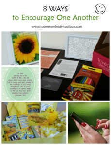 8 Ways to Encourage One Another