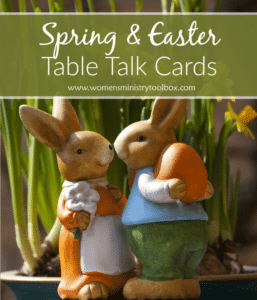 Spring and Easter Table Talk Cards (Free Printable)