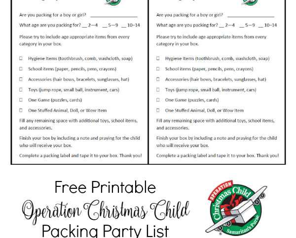 Operation Christmas Child Archives - Women's Ministry Toolbox