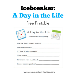 Icebreaker: A Day in the Life (Free Printable)