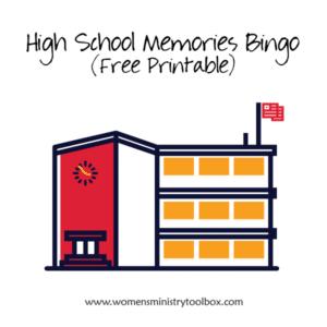 High School Memories Bingo (Free Printable)