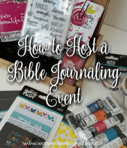 How to Host a Bible Journaling Event
