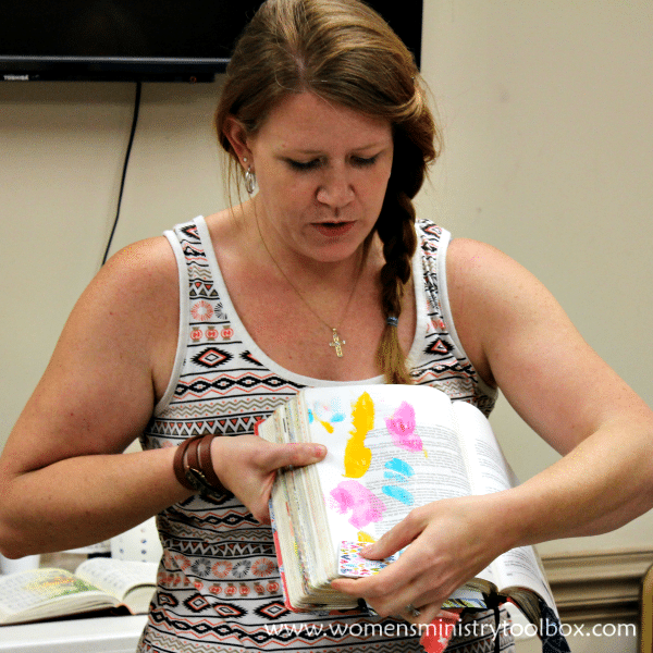 Using acrylics Bible Journaling event