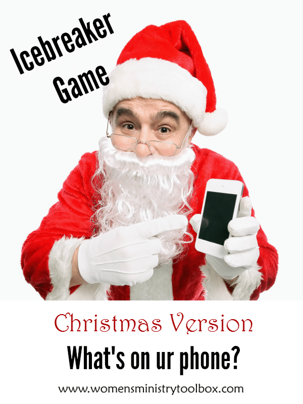 Christmas Version: What's on ur phone? Icebreaker Game (Free Printable)