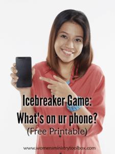 Icebreaker Game: What's on ur phone?