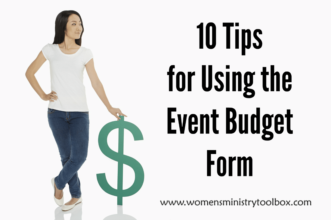 Budgeting For An Event Free Printable Women S Ministry Toolbox