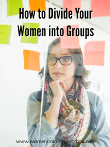 Ever wondered what the best way is to divide your women into groups for Bible study, small groups, and women's ministry events? Here's how we do ours!