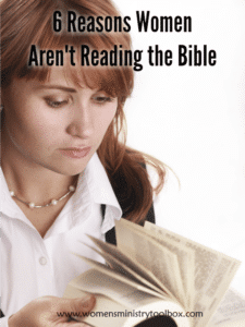 Why women aren't reading the Bible and what we can do about it. #biblestudy