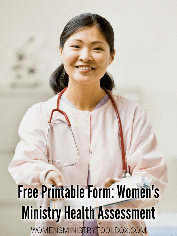 How healthy is your women's ministry? Use this free printable form to rate the health of your ministry.